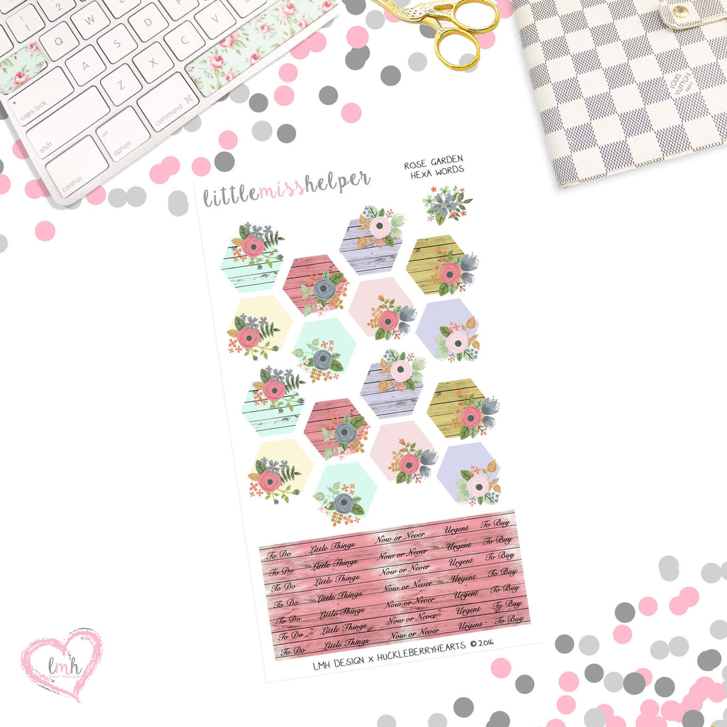 Rose Garden | Hexa Page Flag Planner Sticker