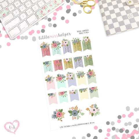 Rose Garden | Page Flag Planner Sticker