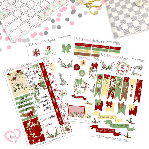Rustic Christmas | Planner Sticker Set of 4