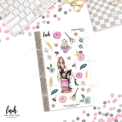 Sticker Squad 6 Deco Stickers | Planner Sticker