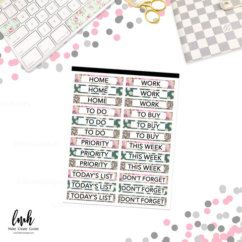 Sticker Squad 6 Headers / Labels | Planner Sticker