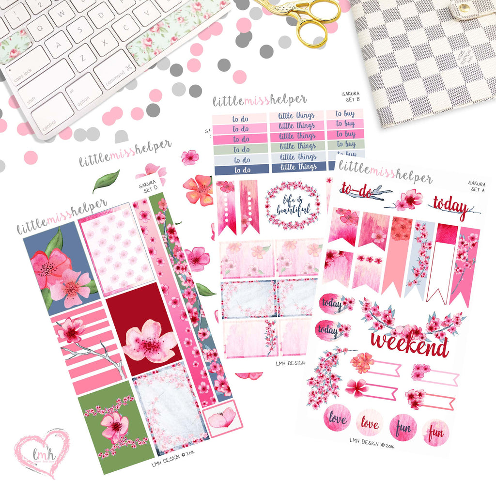 Sakura | Planner Sticker Set of 4