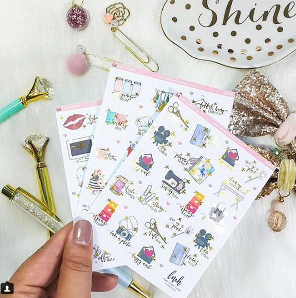 Chic Icons - Craft | Planner Sticker | SMALL