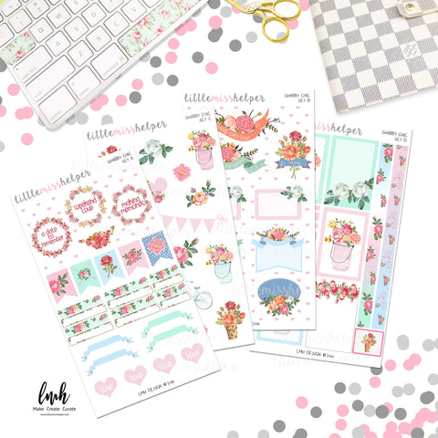 Shabby Chic | Planner Sticker Set of 4