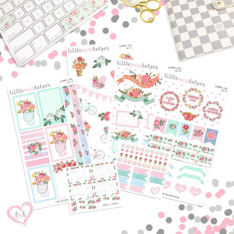 Charm and Sticker Kit 9 | Shabby Chic