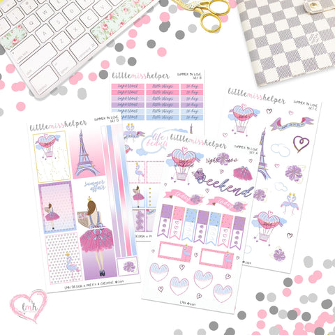 Summer in Love | Planner Sticker Set of 4