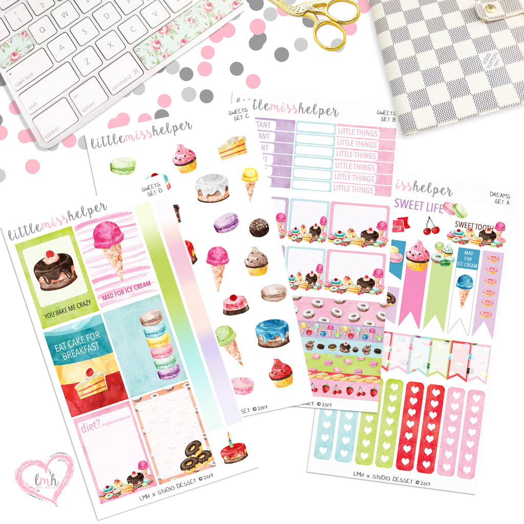 Sweets | Planner Sticker Set of 4