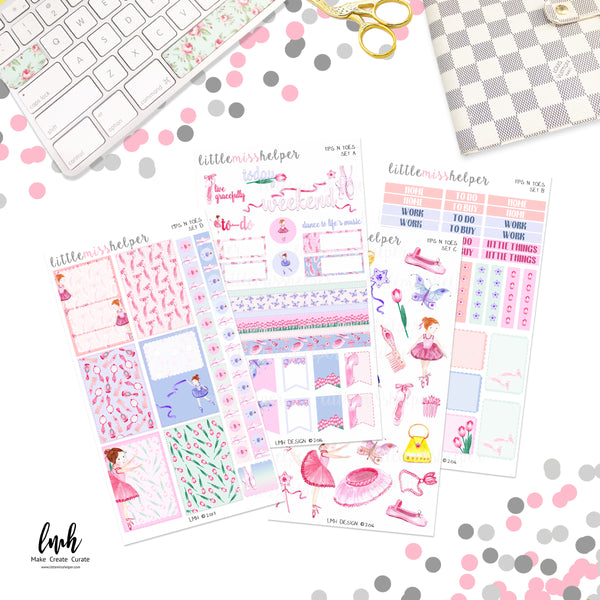 Tips N Toes | Planner Sticker Set of 4