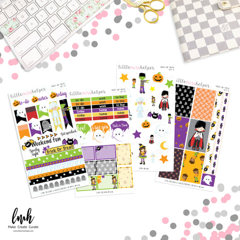 Trick or Treat | Planner Sticker Set of 4 | Individual Sheets