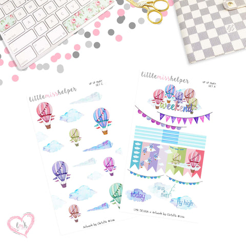 Up Up and Away | Planner Sticker Set of 2