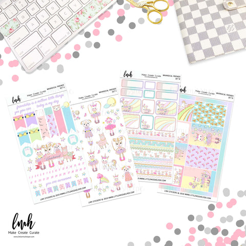 Whimsical Friends | Planner Sticker Set of 4