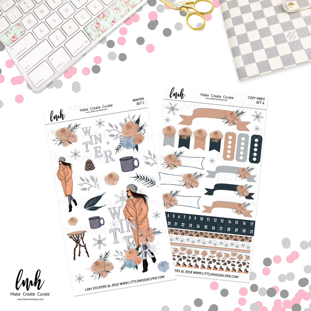 Winter | Planner Sticker Set of 2 | Individual Sheets