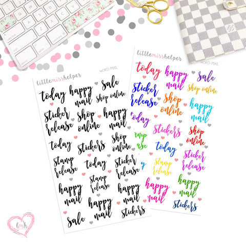 Word Sticker - MAIL | Planner Sticker