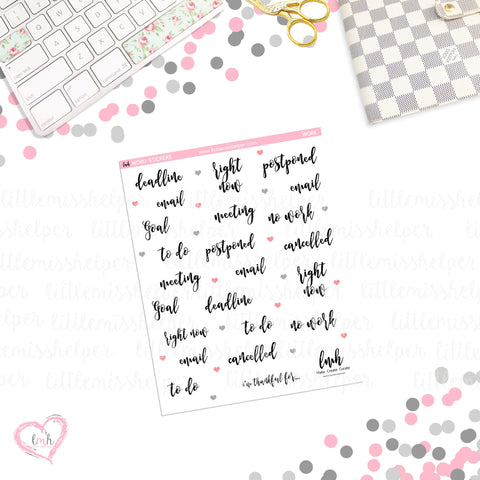 Word Sticker - Work | Planner Sticker | SMALL