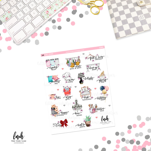 Chic Icons - Home | Planner Sticker | SMALL