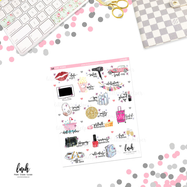Chic Icons - Leisure | Planner Sticker | SMALL