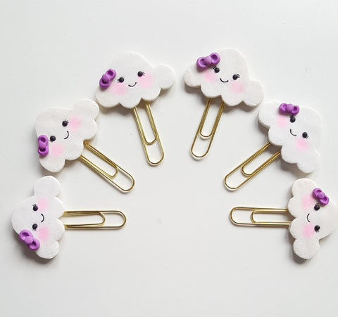 Planner Clip - Kawaii Cloud *Curated:BitsToPieces*