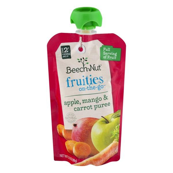 Beech-Nut Stage 2 Fruities On-The-Go Apple Mango Carrot Puree Natural