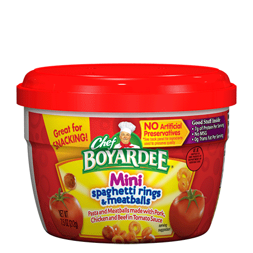 Chef Boyardee Spaghetti Rings & Meatballs Mini in Tomato Sauce
