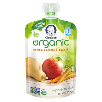 Gerber 2nd Foods Apples, Carrots & Squash Organic