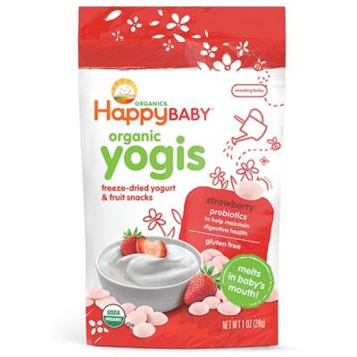 HappyBaby Organics Yogis Yogurt & Fruit Snacks Strawberry Gluten Free