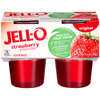 Jell-O Gelatin Snacks Strawberry - 4 pk