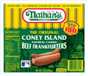 Nathan's Famous Beef Frankfurters The Original Coney Island - 5 ct