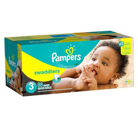 Pampers Swaddlers Size 3 Diapers 16-28 lbs Super Pack