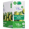 Plum Organics Stage 2 Baby Food Pear, Spinach & Pea - 4 pk