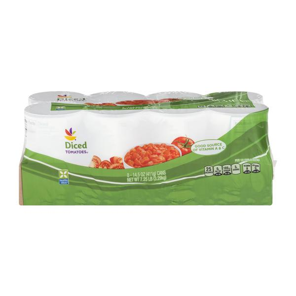 Stop & Shop Tomatoes Diced - 8 ct