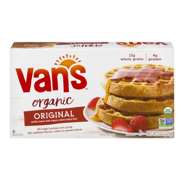 Van's Waffles Totally Original Whole Grain Organic - 6 ct