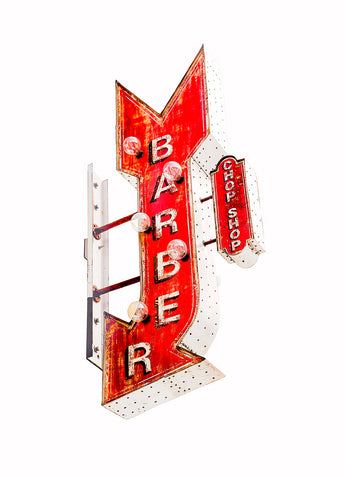 Barber Shop Sign, Melrose Avenue, Los Angeles