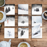 Snowscapes - Set of 9 Folded Greeting Cards