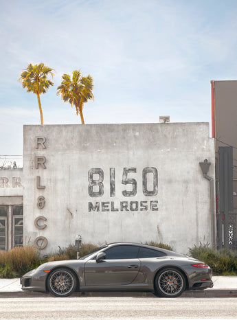 Porsche on Melrose Avenue, Los Angeles