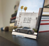 Porsche in Melrose Avenue - Mini Acrylic