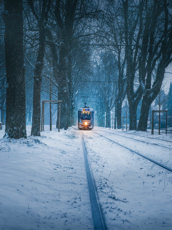 Tram in the Snow