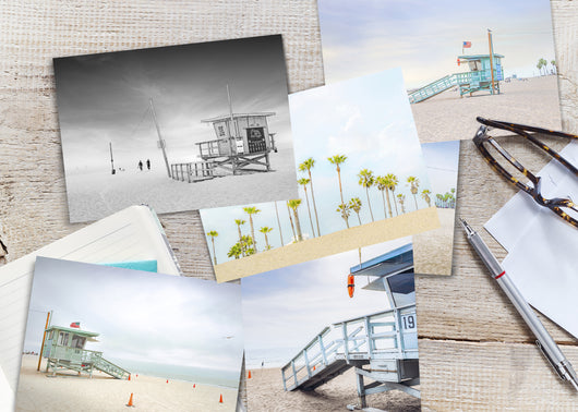 Venice Beach, California - Set of 9 Postcards
