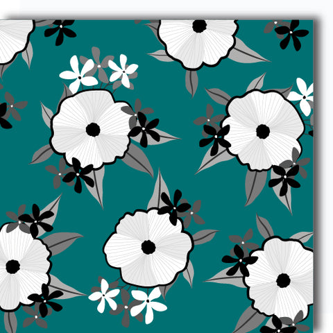 Flower Garden (sea green)