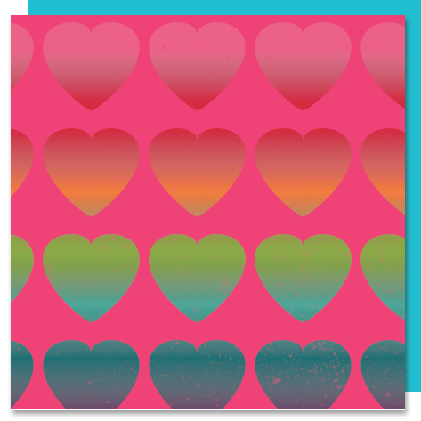 Rainbow Heart Canvas