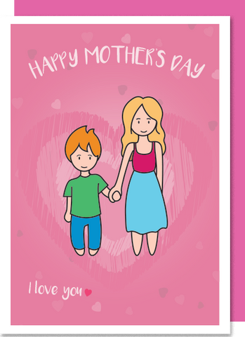 I Love You – White Mum, ginger boy