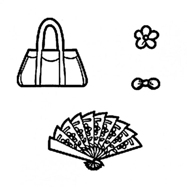 Handbag and Fan patchwork silhouette cutters