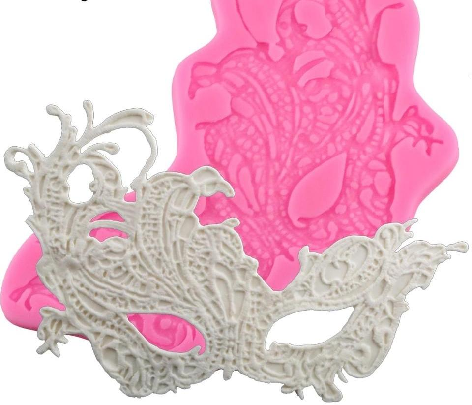 Lace mask silicone mould, 20x12.5cm