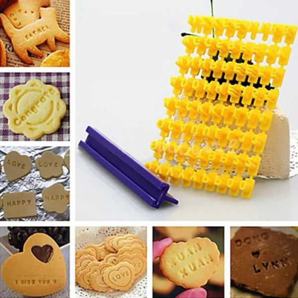 Small Tiny cookie/ Fondant alphabet embosser imprint stamp set