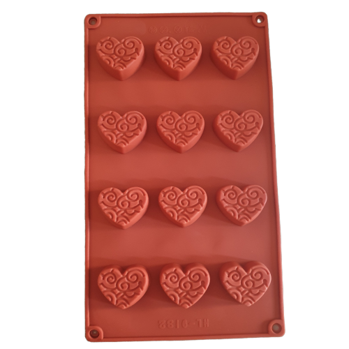 H Heart Chocolate truffle  silicone mould, 4x3.5cm, 1.5cm deep