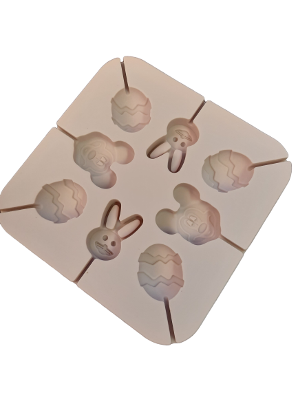 Easter Mickey Mouse Lollipop Silicone  mould, Bunny 4x2.8cm
