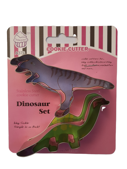 Metal dinosuar cookie cutter set