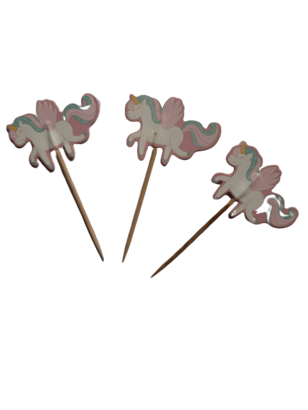 12 Cupcake toppers Unicorn toothpicks