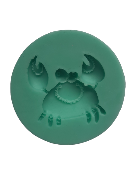 Crab silicone mould, 4.5x4.2cm