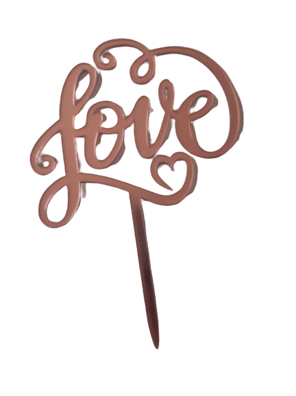 Nr181 Acrylic cake topper pink Love