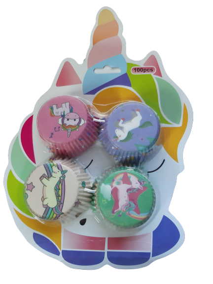 100 piece Unicorn Cupcake holders wrappers